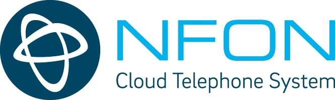 NFON Logo englisch klein horizontal color